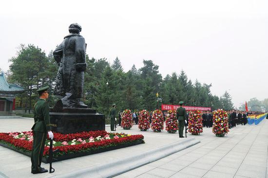 烈士公祭活动。