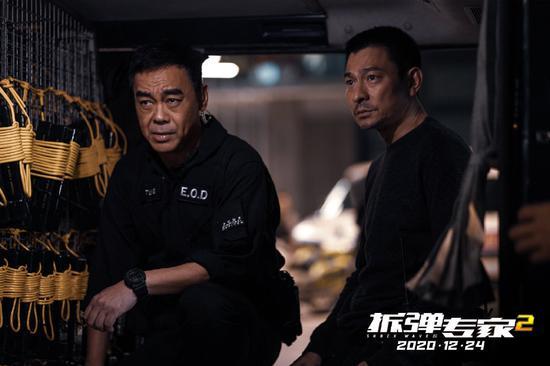 《拆弹专家2》剧照,刘青云、刘德华