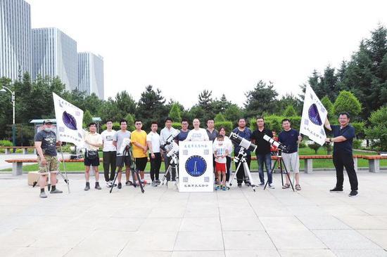 长春市天文协会组织的天文科普活动