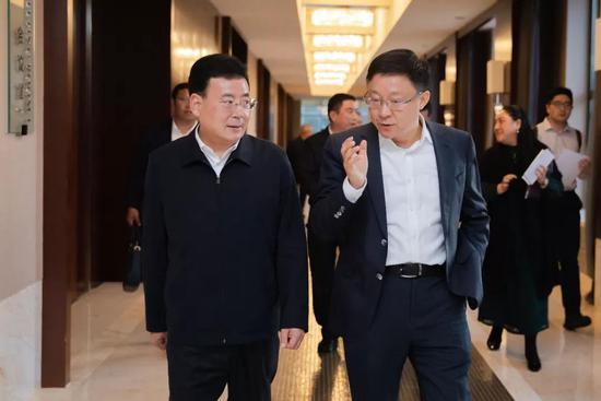 胡家福会见科大讯飞董事长刘庆峰一行