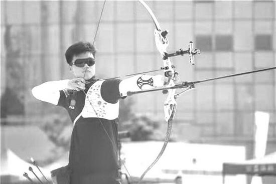 男子射箭运动员魏绍轩