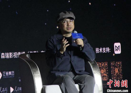 导演徐峥与青年电影人及电影爱好者分享自己对电影的创作感悟。 张一辰 摄