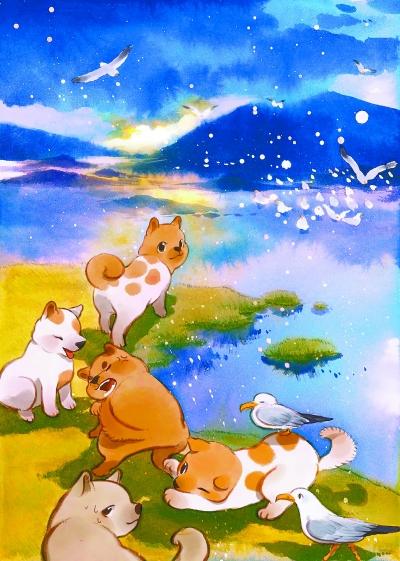 《柴门犬吠》系列作品之一。