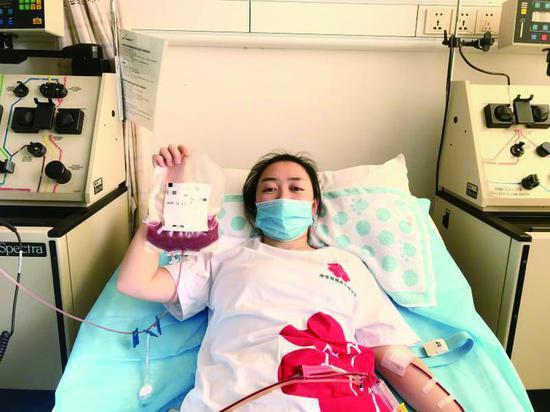 赵明阳成功捐献造血干细胞。