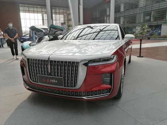 红旗H9+车型。新华社记者张建摄
