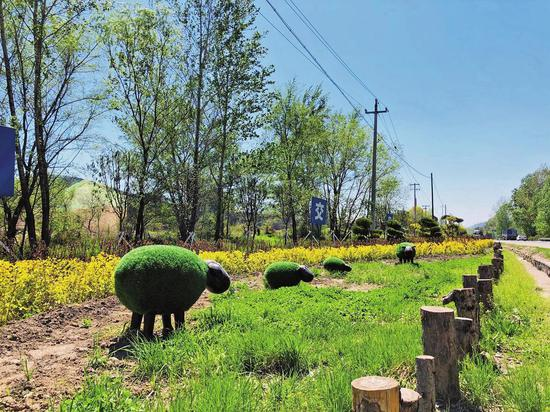 永吉县西阳镇绿化美化后成为一道靓丽的风景线。