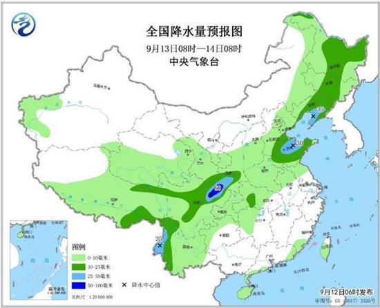 中秋节期间吉林省天气预报出炉 气温稍高有降雨