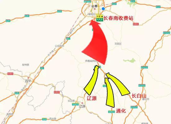 从鹤大高速路线图