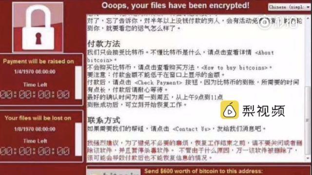 12日,在英国伦敦,一名女子观看遭到病毒攻击的网页。(新华社发)