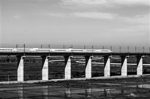 长白乌动车组沿线的美景。