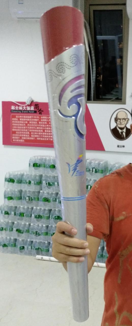 正版天津全运会火炬售价要1万元