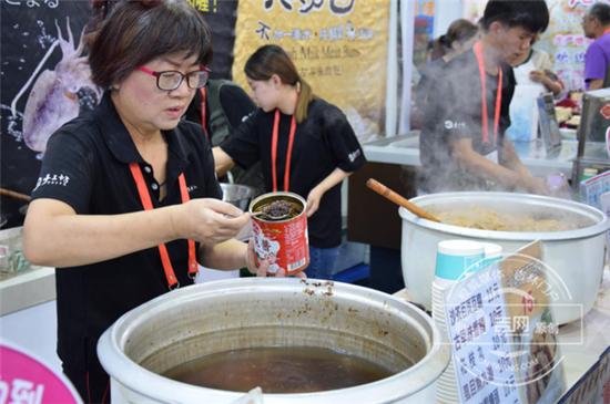 现做台湾风味沙茶百叶豆腐