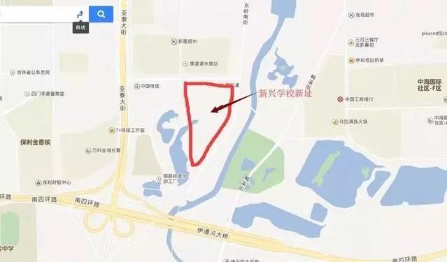 学校位置:河堤路以西,新星宇之洲小区以南