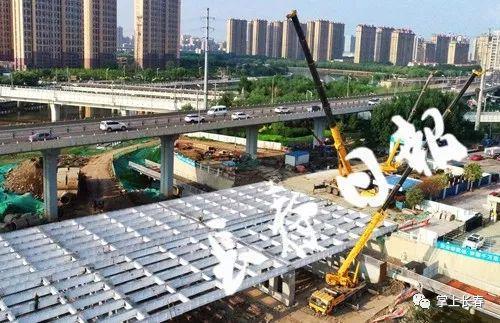 东大桥主体钢结构吊装完工