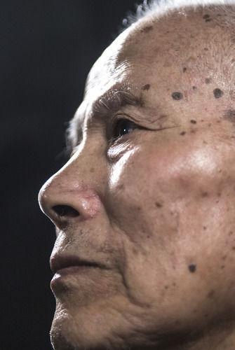 在吉林省通化市拍摄的志愿军老战士孙泰镐(9月29日摄)。