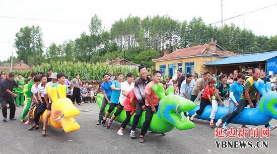 汪清县西阳村举办趣味运动会