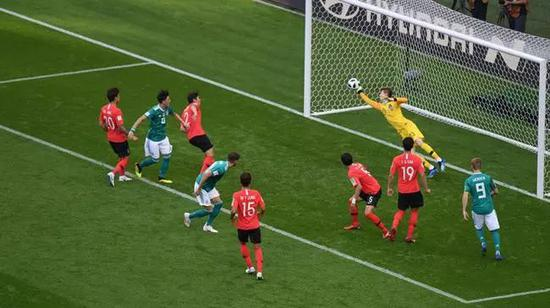 韩国门将化解德国队射门