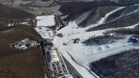 莲花山滑雪场全景