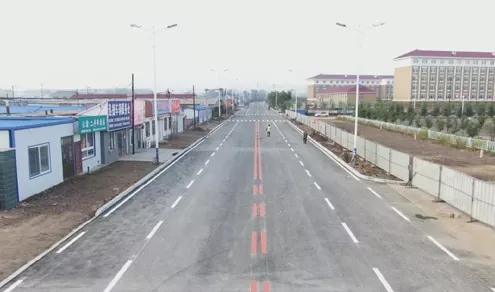 四平市梨树县朝阳大路北段9月15日正式通车