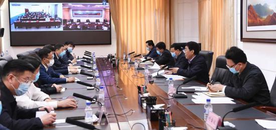 5月10日,吉林省疫情防控工作视频调度会议在吉林市召开
