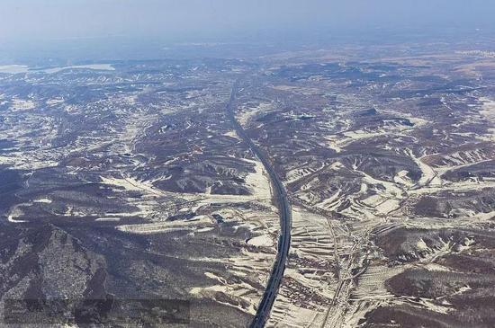 航拍吉林省公路