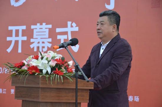 吉林艺术学院油画研究院院长王建国致辞