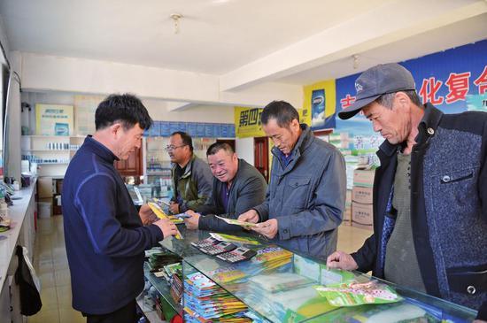 村民精心挑选玉米种子。徐大东 摄