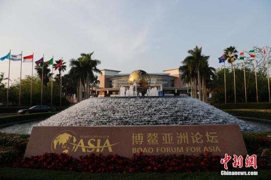 图为博鳌亚洲论坛会议中心外景。中新社记者 杜洋 摄