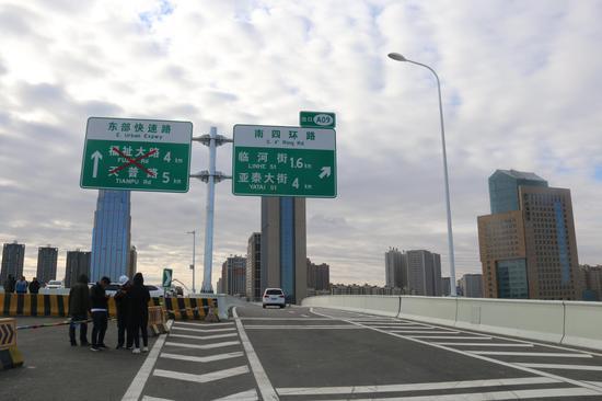 长春市两横三纵东部快速路生态大街段正式通车