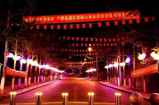 玉皇山公园亮化景观扮靓山城