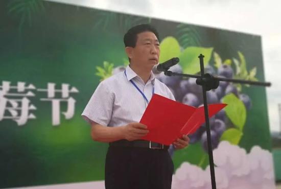 白山市人大常委会副主任、中共靖宇县委书记毕增祥致辞