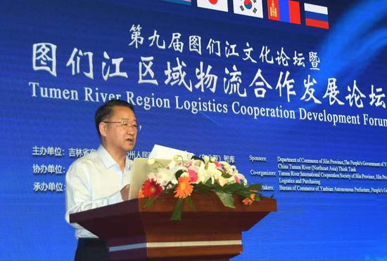 中国图们江(东北亚)智库理事长、中国图们江区域合作开发专家组成员李铁致辞