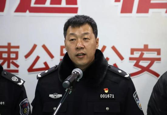 吉林省公安厅高速公路公安局直属支队支队长王斌致辞