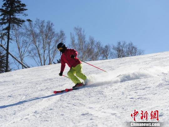 滑雪爱好者在吉林北大壶滑雪场体验滑雪的乐趣(资料图) 刘栋 摄