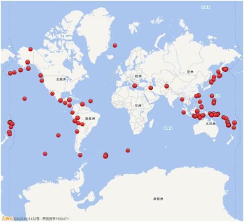 与2017年相比,2018年全球地震活动明显增强。图片来源:中国地震台网微信公众号