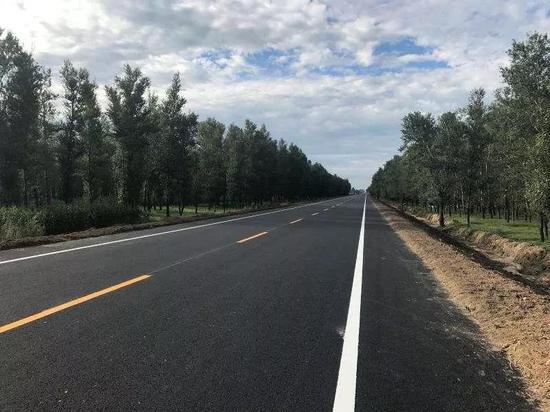 修建的203国道四平段