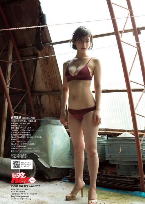 吉岡里帆内衣写真表情娇羞 秀雪肤胸器