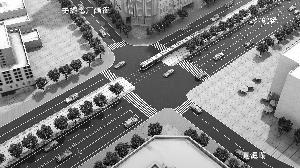 红旗街商圈改造后   无线电厂西街与同德路取直,东西向的交通连接顺通。   资料图片