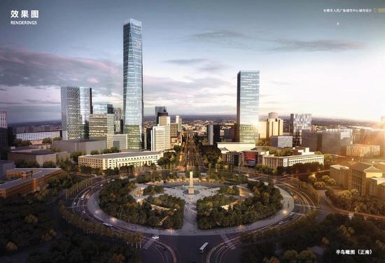 崇智商城拟变330米建筑 人民广场拟成下沉式广场图片