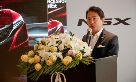 广汽本田汽车销售有限公司副总经理兼第二事业本部本部长  渡边康治讲话