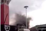 长春龙嘉机场场区内一废弃锅炉房发生火情