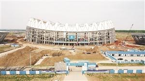 建设中的长春奥林匹克公园。孙建一 摄