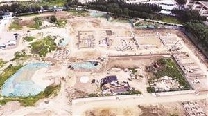 从空中俯瞰,永宁路人工湿地规模相当大。本组摄影 张扬