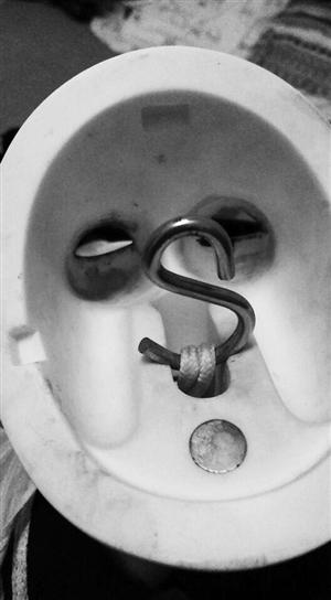 二手娃娃头盖内部有生锈痕迹。 康重华 摄