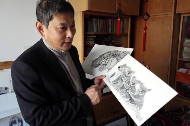 大学教师自悟钢笔画31年 多幅作品被国外收藏