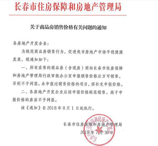 信息来源:长春市住房保障和房地产管理局网站