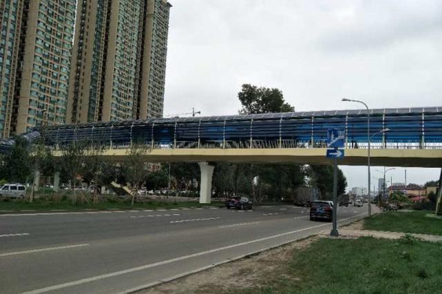 长春南四环首个过街天桥提前俩月建成 全长65米