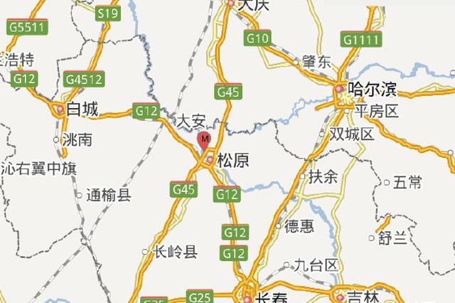11月9日4时24分吉林松原市宁江区发生2.6级地震