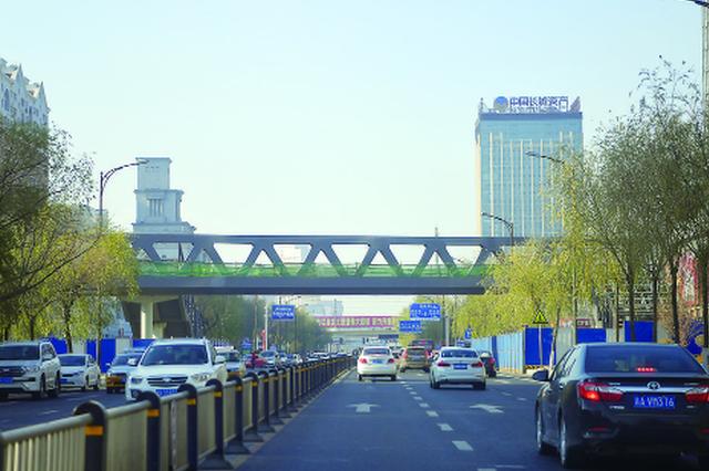 长春中日联谊医院和北方市场门前建人行天桥了