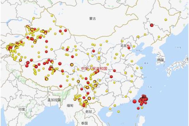 2018年全国发生三级以上地震542次 吉林松原排名第三